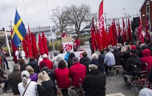 Många kom för att lyssna på Wanja Lundby Wedin.