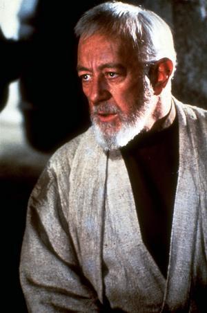 Alec Guiness som Obi-Wan Kenobi i George Lucas