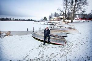 Vinterbilden 2016. Årets modell: Lennye Osbeck. Medeltemperatur: -1,5. Nederbörd: 105,3. Foto: Ellinore Wolf.
