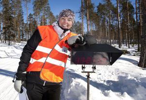 Helena Jansson ansvarade för starten på specialsträcka fyra.