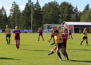 Nike Edén och hennes Sveg satte hård press på Brunflo matchen igenom.