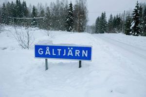 Den 2 februari hade Gåltjärn ett snödjup på 175 centimeter. Det var mest i hela Sverige.