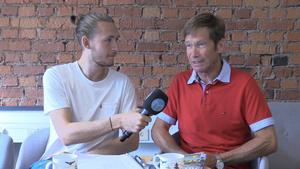 Niclas Åkerström och Bo Eklöf travsurr.