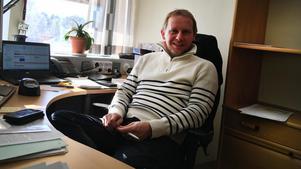 Patrik Byström, ekonom och deltidsbrandman från Ytterhogdal.Foto: Härjedalens kommun.