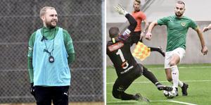 Tränaren Patric Jildefalk och forwarden Perparim Beqaj är två nya ansikten i det J-Södra som spelar första träningsmatchen mot Lindome på lördag.