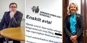 Anders Hedenius, före detta ordförande i Näringslivsbolaget styrelse och Anita Öberg.