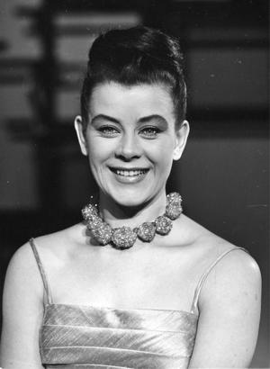 Brita Borg (1926–2010) var en svensk sångare, skådespelare och revyartist. Dessutom Örebrobördig, då hennes föräldrar kom från Örebro. Foto: TT