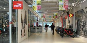 Team Sportia i Sjötelegrafens köpcentrum i Nynäshamn.
