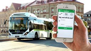 Att enbart komma åt sin gratisbiljett via Din Turs app utesluter en grupp med ansträngd ekonomi, menar skribenten. Bilder: Håkan Humla / Henrik Lundbjörk
