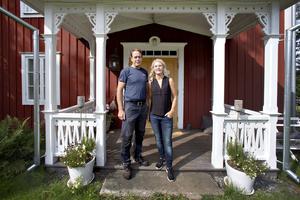 Heléne Geimar och Johan Geimar har under sina 22 år i huset samlat på sig en del saker.