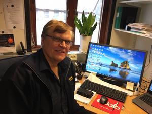 Bo Lundberg, beredskapssamordnare i Malung-Sälen, konstaterar att även om det är höga flöden i Västerdalälven, är det ingen fara i nuläget.