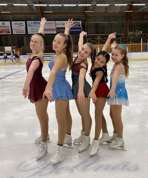 Karolina Hansson, Moa Nilsson, Elin Brandt, Aidana Asylbasheva och Ebba Myhrberg tog alla pallplatser i lördagens tävlingar.