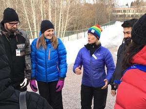 Yrsa Holmén och Marie Wilhelmsson från Skogshjältarna gästade Åvestadalskolan.