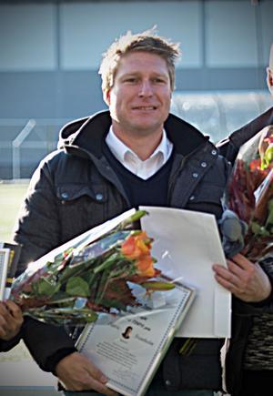 Patric Svanholm  har även tidigare prisats som eldsjäl i klubben och fotbollen. Arkivfoto