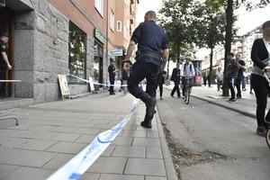 Brottsplatsen den 21 augusti. Foto: TT