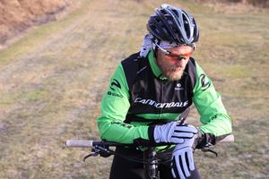 Magnus Blom åkte två varv men hade gärna stannat längre för att åka mer.