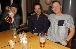Johan Sandström, Magnus Ekström och Lasse Lundgren från Hällefors.