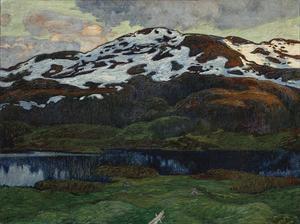 En kväll vid Kallsjön av Helmer Osslund. Foto: Nationalmuseum