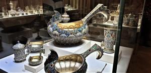 Utställningsföremål på Fabergémuseet.
