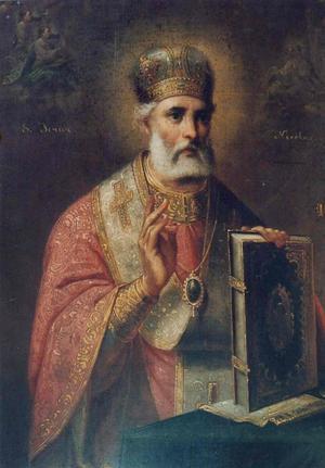 Kyrkan i det medeltida kvarteret mellan Stora gatan och Skomakargatan fick namn efter helgonet Sankt Nicolaus, biskop i Myra i nuvarande Turkiet på 300-talet. Förutom att han var sjöfararnas och köpmännens helgon blev Sankt Nicolaus också en förebild för jultomten, Santa Claus, tack vare sin givmildhet. Bildkälla: Wikicommons.