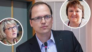 Maria Söderberg (C), Björn Hammarberg (M) och AnnSofie Andersson (S).