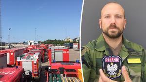 Emil Bukowiecki fick ett polskt brandmärke som tack för sitt jobb.