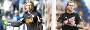 William Eskelinen och Loris Karius. Två målvakter som kommer att minnas den här helgen på två olika sätt. Bild: TT