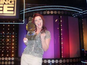 Martina Eriksson från Åre vann en deltävling i tv-programmet Singing Bee.