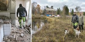 Marcus Ejnebrand och Amanda Stuguby är nya ägare till det gamla hotellet nere vid Gunnarsvik strand i Ytterån.