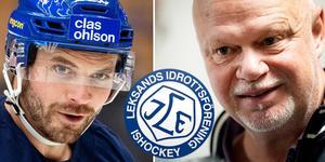 Johan Fransson missar kvällens match mot Oskarshamn, då tvingas Roger Melin förändra i backuppställningen. Foto: Montage, TT.