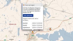 """Trafikverket varnar för fara på väg – """"tappat mindre träd"""" på E18"""