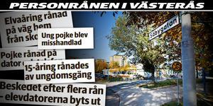 På Säbygatan har två rån mot barn skett under 2018. Montage: Lina Bergling