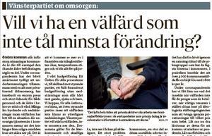 I NA den 11 augusti skrev V:s Martha Wicklund om den social välfärden i Örebro kommun. I dag får hon svar av John Johansson (S),  Anna Andersson (KD) och Annika Tholster (C) som alla är politiker  i Programnämnd social välfärd.