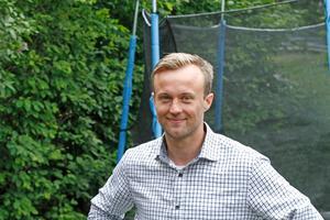 Emil Sjöö var lokalfotbollens hetaste spelare i maj månad. I junirankningen har han sjunkit till plats 16.