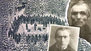 Lars Nyberg, till vänster, lejde Petter Hedin att mörda sin fru. Olof Boväng hjälpte till.