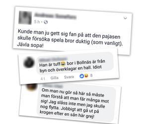Skärmdumpar från Facebook.