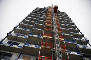 Fagerskrapan planeras vara inflyttningsklar i december med 56 lägenheter.