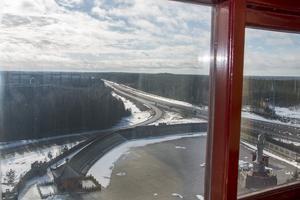 Festvåningen på tionde våningen har en imponerande utsikt över omgivningarna.
