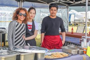 Från vänster: Suphap Wong Thong Thaec, Thi Thi Vu och Pawat Klinthung.