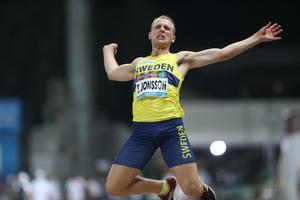 Tobias Jonsson slutade femma i längdhoppsfinalen i Dubai. Foto: Sveriges Paralympiska Kommitté