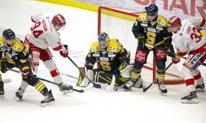 Fredrik Bergvik räddade 34 av 35 Timrå-skott – och får nu chansen igen mot Karlskrona.