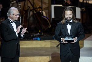 vMax Martin tilldelas Polarpriset av kung Carl XVI Gustaf under Polarpriset 2016.