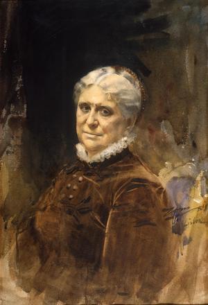 Porträtt av Vicomtesse Daupias i Spanien.