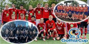 Stugsund, Norrala och Bollnäs var föreningarna som skickade lag till årets upplaga av Gothia Cup. Bild: Stungsunds IK, Norrala IF, Bollnäs GIF FF