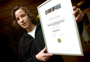 Linus Hallenius fick 2006 års stipendium av föreningen Gamla Giffare. Bild: Mats Olsson