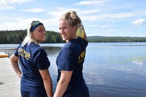 Maria Melin Wittberg och Erika Lindström tränar till vardags med Borlängeklubben DK Masen.
