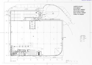 Våningsplan ett med kafé, förbutik, toaletter och butik.