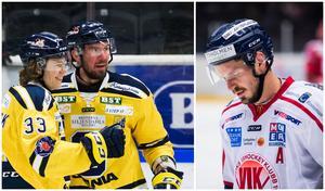 Måns Lindbäck, Nicklas Grossmann och Andreas Frisk ställs mot varandra i kväll. Foto: Bildbyrån.