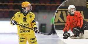 Filip Bringe och Victor Birgersson – hjältar när Åby/Tjureda tog sin första historiska poäng i elitserien efter 4–4 hemma mot Motala.