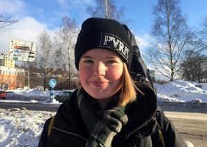 Siri Gustavsson, 18 år, studerande, Sundsvall